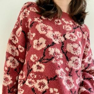 NWT Nanette Lepore Floral  wool blend sweater - S